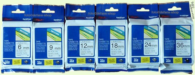 brother p touch tape tze 231 schwarz auf wei 12mm tz 231. Black Bedroom Furniture Sets. Home Design Ideas